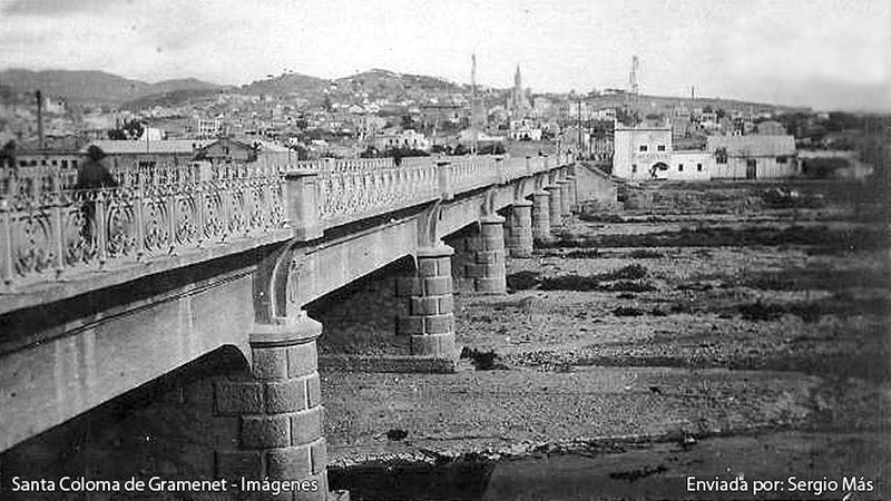 Pont Vell de Santa Coloma de Gramenet.